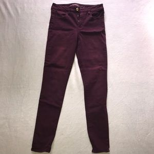 American Eagle Maroon jeans